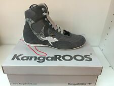 Women's KangaROOS, Vulcan, Mid Top Sneaker Grey Leather Shoes, New, Size 6.5
