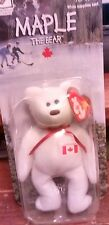 """TY Beanie Babies """"MAPLE"""" the CANADA EXCLUSIVE TEDDY BEAR - RETIRED! RARE!"""