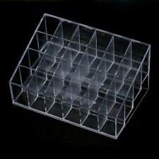 24 Stand Crazycity Generic Trapezoid Clear Lipstick Lotion Cosmetic Holder NEW