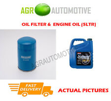 PETROL OIL FILTER + 0W40 ENGINE OIL FOR NISSAN SUNNY 1.6 102 BHP 1994-00