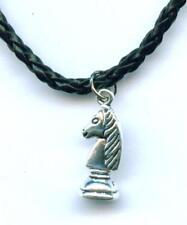 Halskette Schach Springer Necklace Chess Anhänger