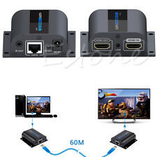 60m HDMI Network Extender Over Single Cable with IR cat6e/6 3D&1080P UK Plug Hot