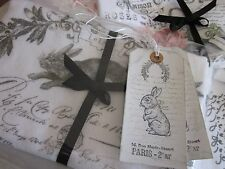 ~ Le Lapin French Hare Flour Sack Kitchen Towel Dish Towel Cottage Chic ~