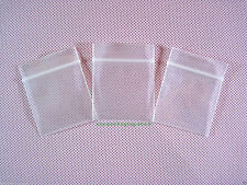 "*UK SELLER*100 X MINI THICK ZIPLOCK PLASTIC BAGS 4mm_1"" x 1.2""_25 x 30mm"