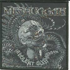 MESHUGGAH head the violent sleep 2016  - WOVEN SEW ON PATCH - free shipping