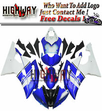 AB Fairings For Yamaha YZF R6 08-15 Injection ABS Plastic Blue White Fairing Kit