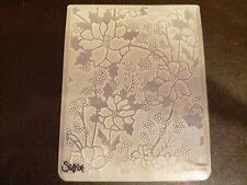 Sizzix Large 4.5x5.75in Embossing Folder CHRISTMAS ALPINE FLOWERS fits Cuttlebug