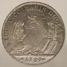 VENICE LUDOVICO MANIN (1789 - 1797) TALLERO 1789 XF SILVER #P415
