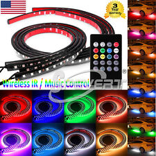 54 72 LED Undercar Underbody Underglow Kit Neon Strip Under Car Glow Light Tube