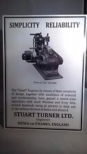 Vintage Stuart Turner stationary engine/ Dynamo display board.