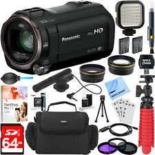 Panasonic HC-V770K HD Camcorder w/ Mini Zoom Microphone + 64GB Accessory Bundle