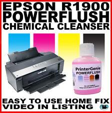 Epson R1900 Cabezal De Impresión Limpiador: Boquilla al ras para desbloquear Impresora obstrucciones Jefes