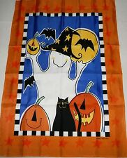 """Large Porch Flag   28""""x40"""" HALLOWEEN  FRIENDLY GHOST"""