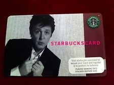 RARE Paul McCartney USA Starbucks Card 2007 Collectors Item Brand New - Unused