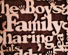 Wooden Family Words Plaque Word Cloude Mdf Blank