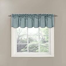 Eclipse Canova 42-Inch x 21-Inch Thermaback Blackout Scallop Valance, River A632
