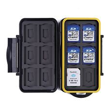 Waterproof Memory Card Travel Case 12 Micro & Standard SD Card Storage Holder