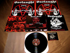 ONSLAUGHT Power From Hell BLACK VINYL LP + 2 Bonus Tr. 25th An. Rem. Ltd, Ed.