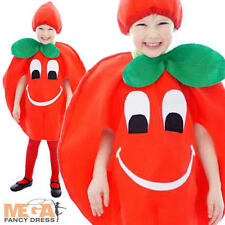 Tomato Toddler Outfit Ages 2-3 Girls Boys Fancy Dress Childrens Food Costume New