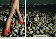 PUBLICITE ADVERTISING 074  1988  STEPHANE KELIAN   chaussures de luxe ( 2 pages)
