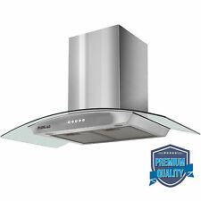 "36"" LED Stainless Steel Wall Mount Range Hood Stove Vent Fan Touch Panel Kitchen"