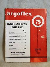1950's Original Argus Argoflex 75 Manual