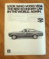 1972 Chevrolet Vega Ad  Look Who Voted Vega The Best Economy Car in the World