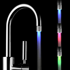 Temperature Sensor LED Light Water Faucet Tap 3 Color RGB Glow Shower No battery