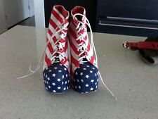 jeffrey campbell red white blue boots sz.9