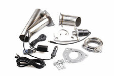 """2"""" INCH Electric stainless Exhaust Cutout E-Cut Out Valve System Kit with Remote"""