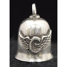 Pewter Motorcycle Gremlin Bell Winged Wheel Made in the USA