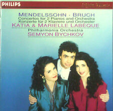 CD KATIA & MARIELLE LABEQUE - Mendelssohn, Bruch concertos for 2 pianos & orches