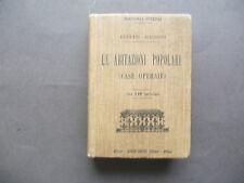 Manuali Hoepli Abitazioni Popolari Case Operaie Magrini Milano 1910