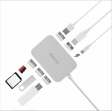 7-in-1 USB-C Hub Type-C Power Delivery 4K Video HD Output SD/TF Card Reader USB