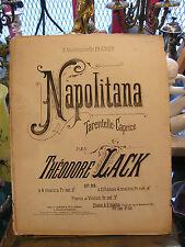 Partition Napolitana par Théodore Lack  pour Piano