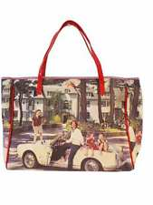 Designer Anya Hindmarch Print Tote Leather & Canvas Perfect Women's Bag