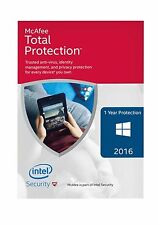 McAfee Total Protection 2016 1YEAR 1PC for WINDOWS