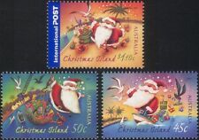 Christmas Island 2007 Christmas/Greetings/Santa Claus/Boat/Presents 3v (n44918)