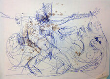 Julian Ritter - Sketch for Future Crucifixion Painting Pencil on Paper 90