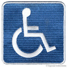 HANDICAPPED DISABLED LOGO iron-on BIKER PATCH embroidered applique SIGN ADA blue