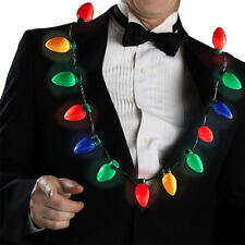 Christmas LED Light Up Bulb Necklace Party Favors For Adults Kids Holiday Gift