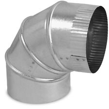 "8"" x 8"" Galvanized Steel Metal Adjustable 90 Degree Elbow Round Air Duct Heating"