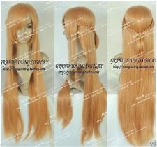 Hot!Sword Art Online Asuna Yuuki Honey tawny Cosplay heat-resisting Wig 100cm ##