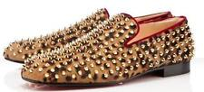 Christian Louboutin Rollerboy Spikes Leopard Print Shoes Loafers,  Size 39