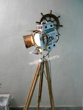 RETRO VINTAGE 1940's SPOT SEARCHLIGHT STUDIO  LAMP WITH TRIPOD STAND SPOT LAMP