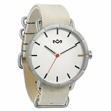 New House of Marley Men's Hitch White Canvas Band White Dial Watch WM-JA004-DB
