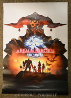 FINAL FANTASY XIV A REALM REBORN - RARE A2 DOUBLE SIDED - GAMING - PROMO POSTER