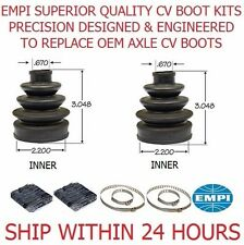 2 FRONT INNER ATV CV Boot Kit 1106 FIT 2003 YAMAHA GRIZZLY 660 4X4