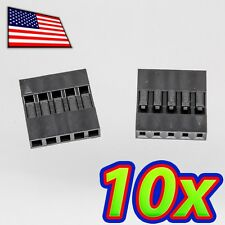 [10x] Dupont  Wire Jumper Pin Header Connector Housing - 1x5 - Male / Female