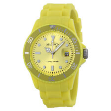 Madison Candy Time XL Light Yellow Mens Watch U4167-21-1